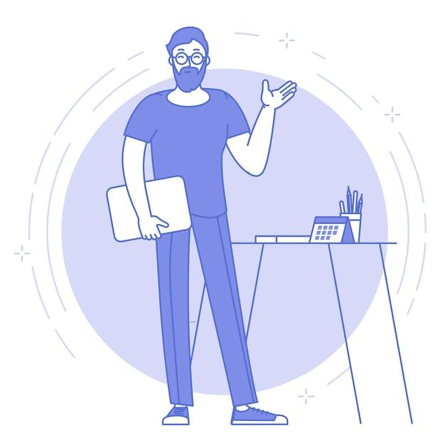 Concept D'infographie De Présentation De Rapport D'entreprise Design Plat. Vecteur Premium