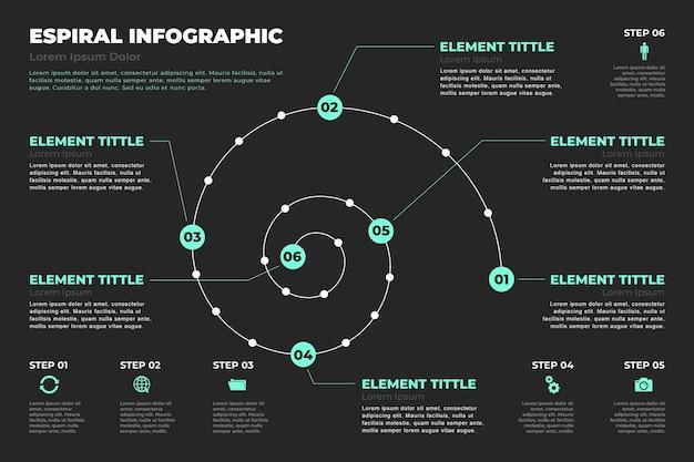 Concept D'infographie En Spirale Vecteur gratuit