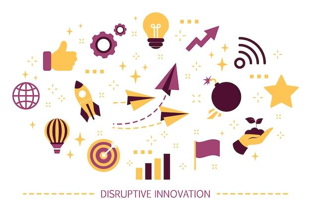 Concept D'innovation Disruptive. Idée Créative Et Unique Vecteur Premium
