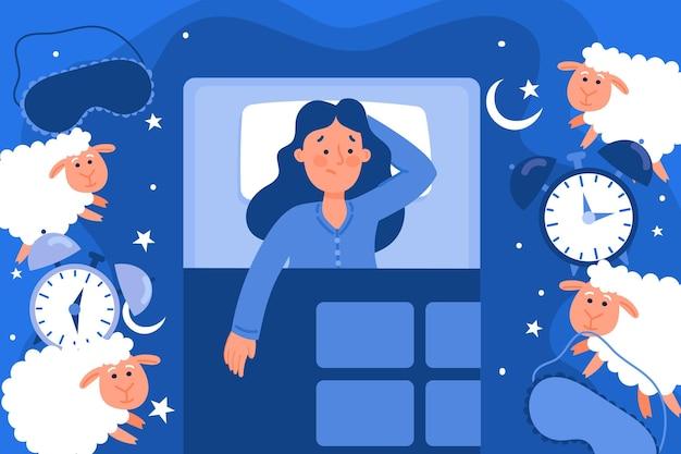 Concept D'insomnie Vecteur gratuit