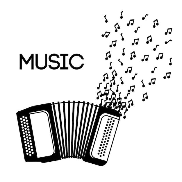 Concept d'instrument de musique Vecteur Premium
