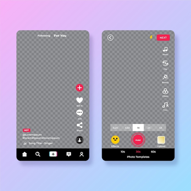 Concept D'interface Tiktok Vecteur gratuit