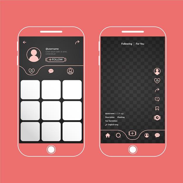 Concept D'interface Tiktok Vecteur gratuit