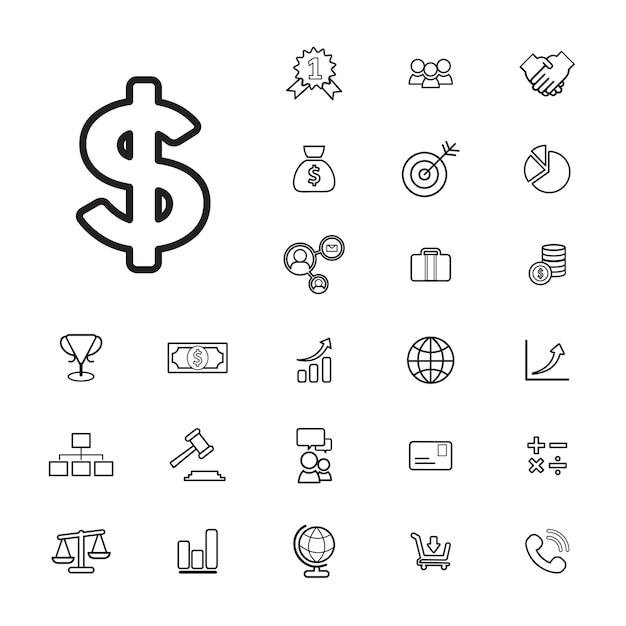 Concept d'interface utilisateur banque d'affaires financière vector collection Vecteur gratuit