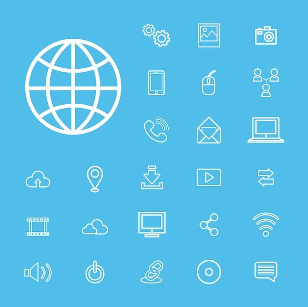 Concept d'interface utilisateur de technologie de connexion numérique Vecteur gratuit