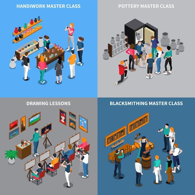 Concept Isométrique Master Class Vecteur gratuit