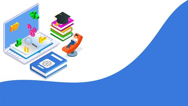 Concept isométrique de programmation logicielle. Vecteur Premium