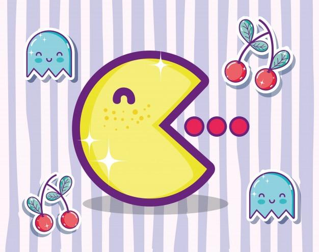 Concept De Jeu Video Retro Pacman Dessin Anime Mignon Telecharger