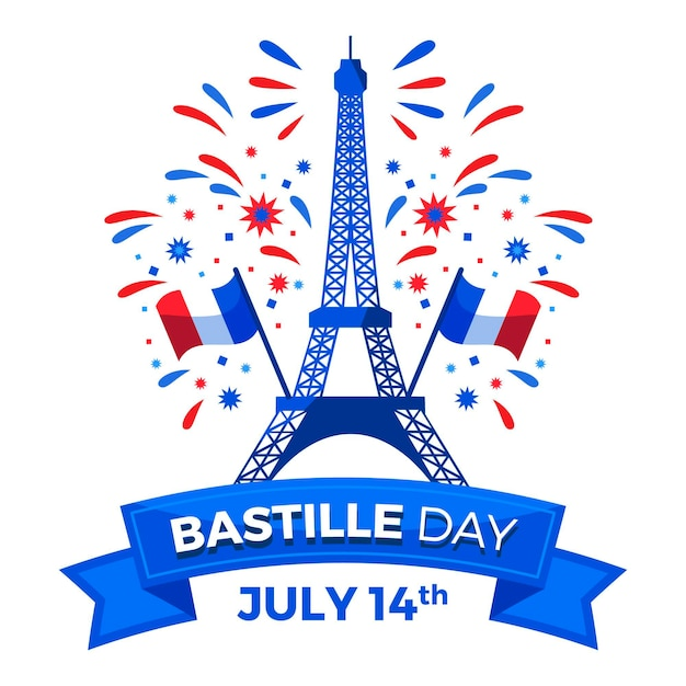 Concept De Jour Bastille Design Plat Vecteur gratuit