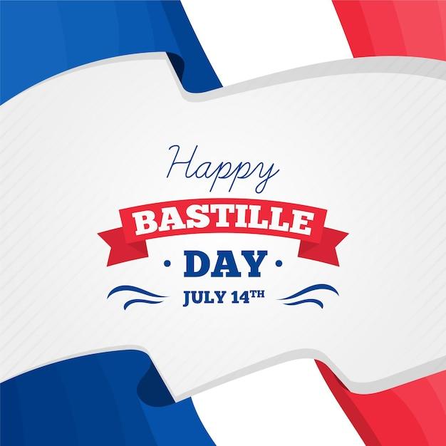 Concept De Jour Bastille Plat Vecteur Premium