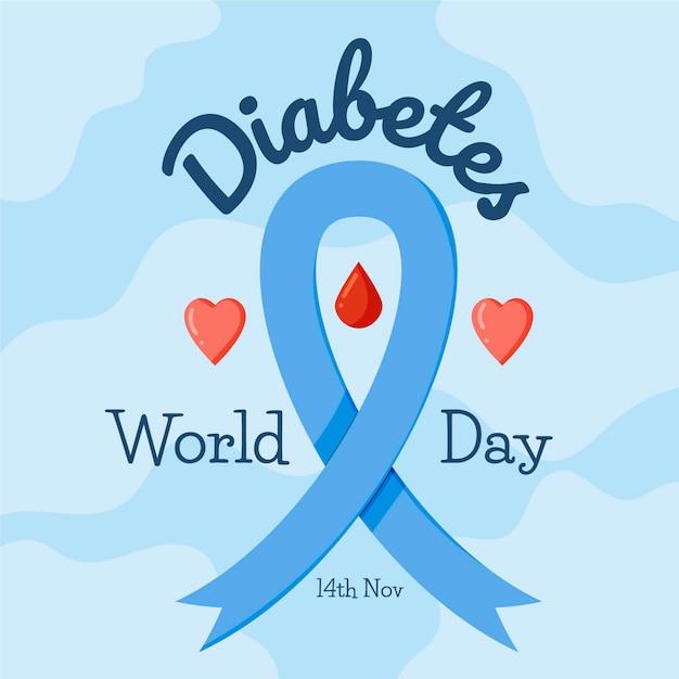 Concept De Jour De Diabète Design Plat Vecteur gratuit