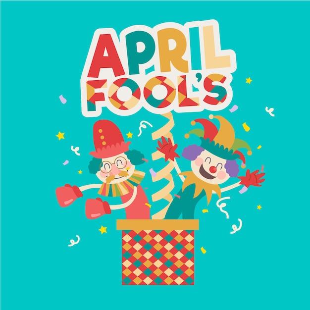 Concept De Jour Du Poisson D'avril Design Plat Vecteur gratuit