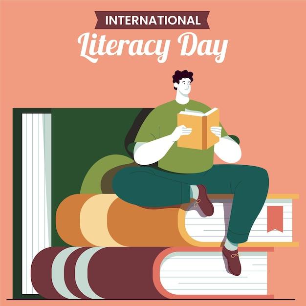 Concept De Jour International De L'alphabétisation Design Plat Vecteur gratuit