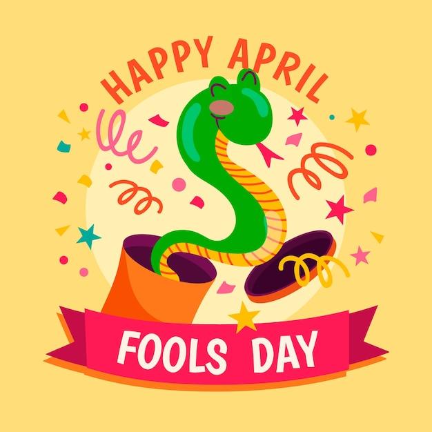 Concept De Jour De Poisson D'avril Dessiné à La Main Vecteur gratuit