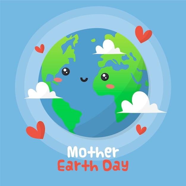Concept De Jour De La Terre Mère Dessiné à La Main Vecteur gratuit