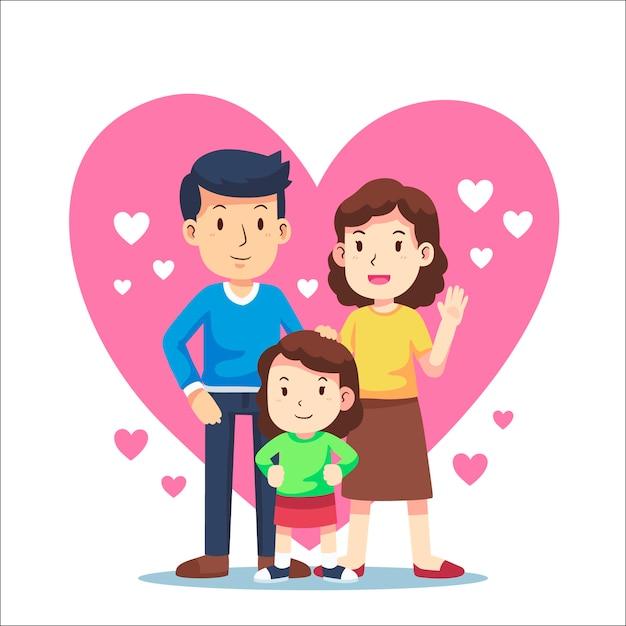 Concept De La Journée Internationale Des Familles Vecteur gratuit