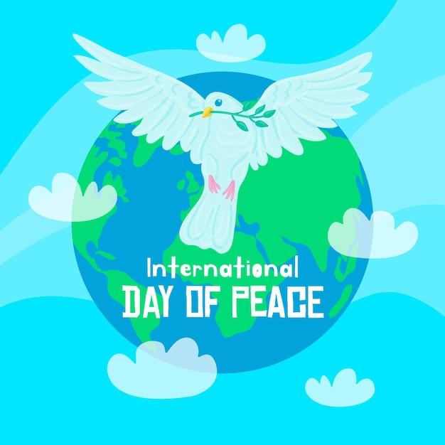 Concept De Journée Internationale De La Paix Dessiné à La Main Vecteur gratuit