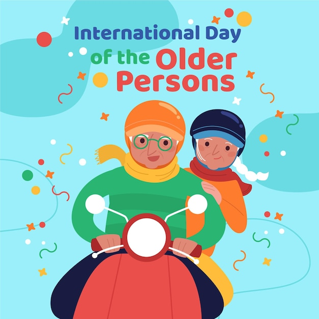 Concept De La Journée Internationale Des Personnes âgées Vecteur gratuit