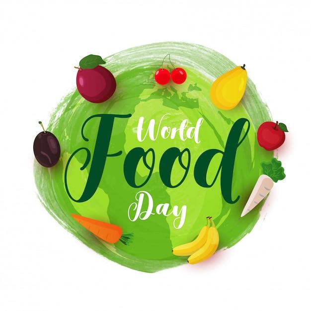 Concept de la journée mondiale de l'alimentation. Vecteur Premium