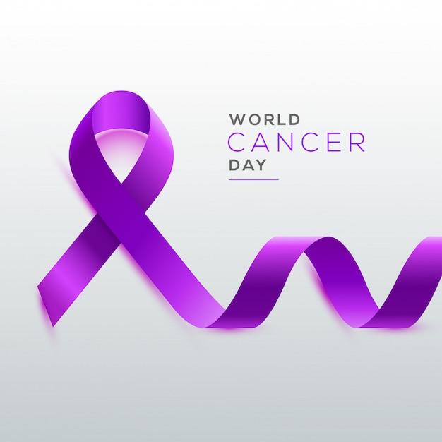 Concept de la journée mondiale contre le cancer. Vecteur Premium