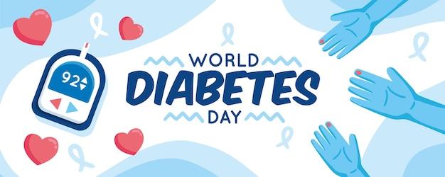 Concept De La Journée Mondiale Du Diabète Vecteur gratuit