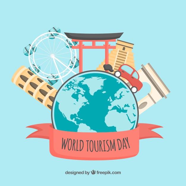 Concept De Journée Mondiale Du Tourisme Avec Un Design Plat Vecteur gratuit