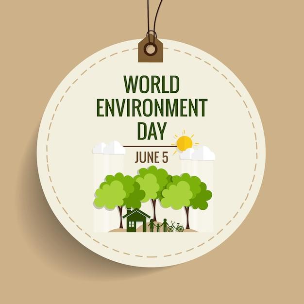 Concept de la journée mondiale de l'environnement. illustration vectorielle Vecteur gratuit