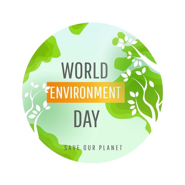 Concept de la journée mondiale de l'environnement. Vecteur Premium