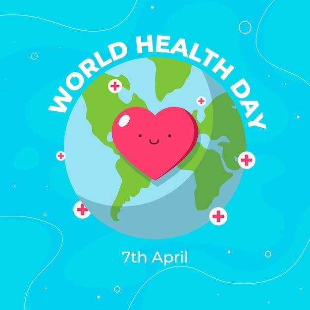 Concept De Journée Mondiale De La Santé Design Plat Vecteur gratuit