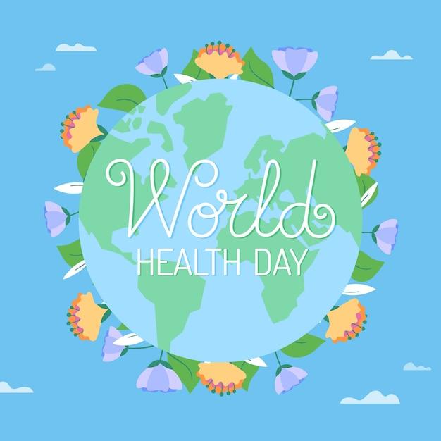 Concept De La Journée Mondiale De La Santé Avec Un Gant Vecteur gratuit