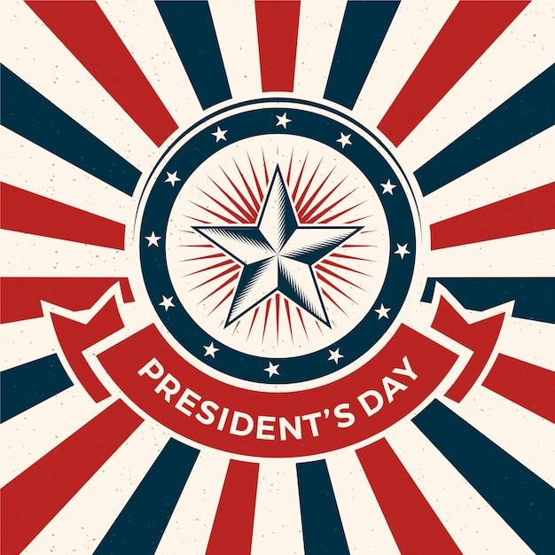 Concept De La Journée Des Présidents Vintage Vecteur gratuit