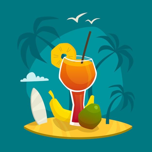 Concept de jus tropical Vecteur gratuit