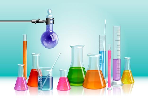 Concept De Laboratoire Scientifique Réaliste Vecteur gratuit