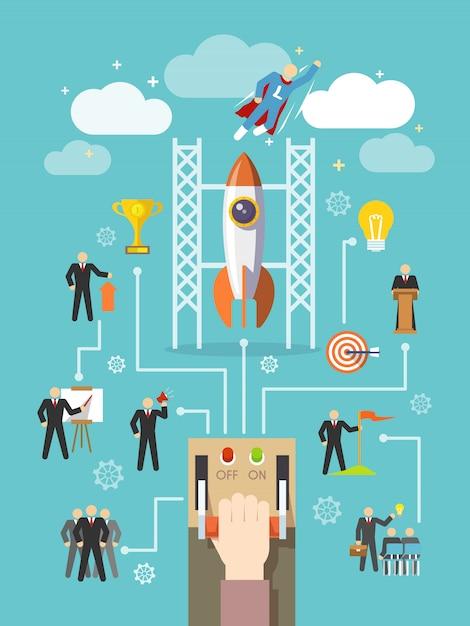 Concept de leadership d'entreprise Vecteur gratuit