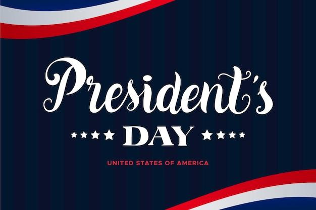 Concept De Lettrage Du Jour Du Président Vecteur gratuit
