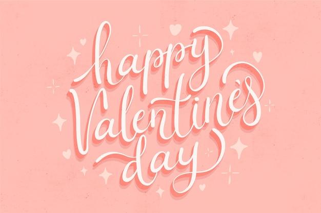 Concept De Lettrage Saint Valentin Vecteur gratuit