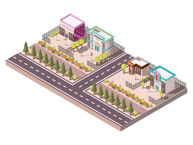 Concept de lieux de divertissement Vecteur gratuit
