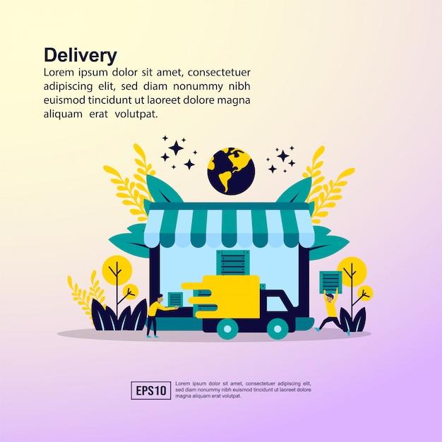 Concept de livraison en ligne Vecteur Premium