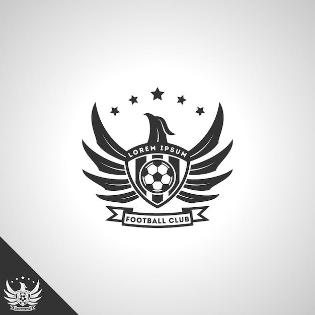 Concept De Logo De Club De Football Avec Un Style D'aigle Puissant Vecteur Premium