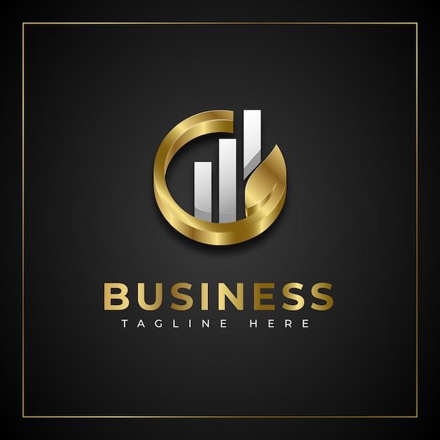 Concept De Logo D'entreprise En Croissance Vecteur Premium