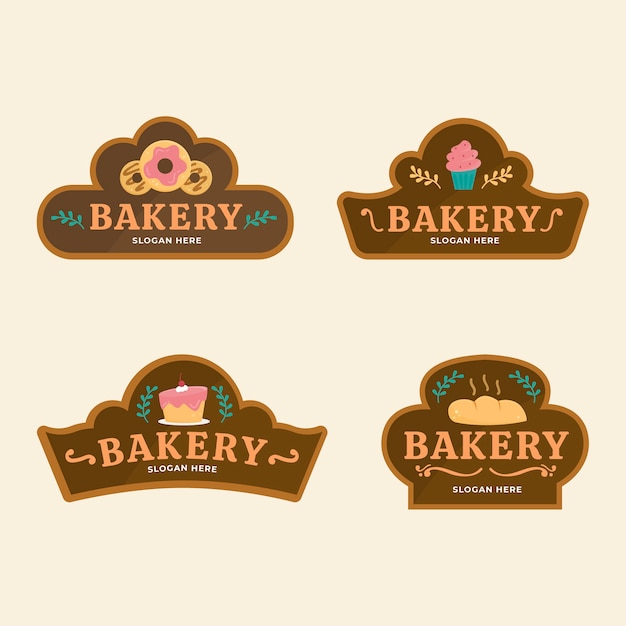 Concept De Logo De Gâteau De Boulangerie Vecteur gratuit