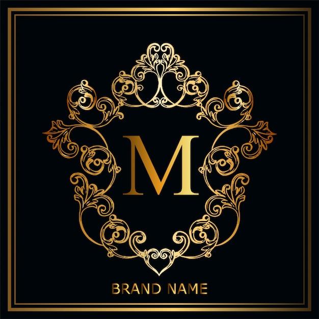 Concept de logo de luxe Vecteur Premium