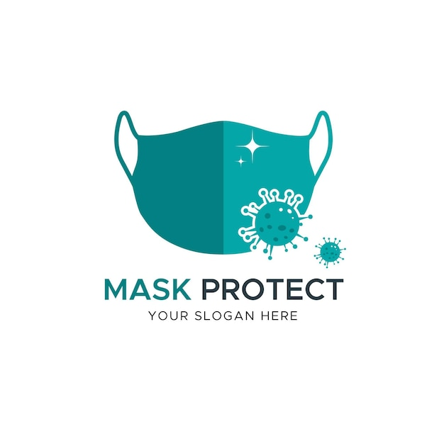 Concept De Logo De Masque Facial Vecteur gratuit
