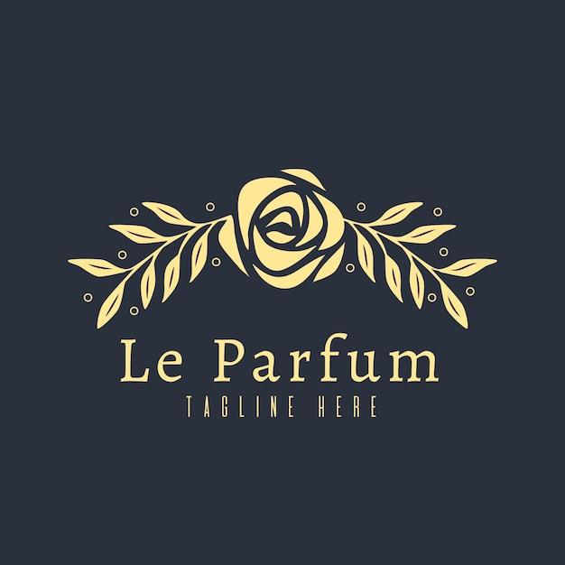 Concept De Logo De Parfum Floral De Luxe Vecteur gratuit