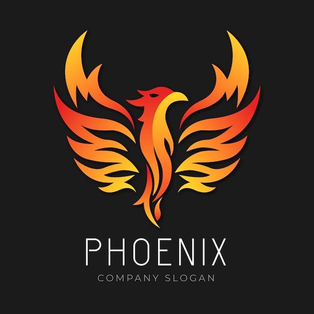 Concept De Logo De Phoenix Vecteur gratuit