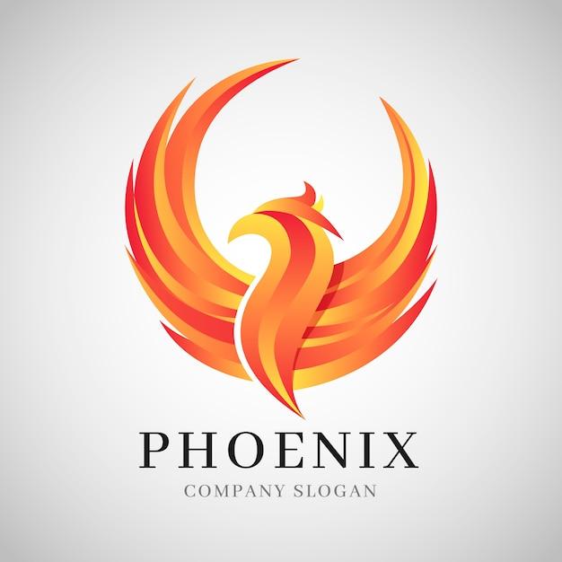 Concept De Logo De Phoenix Vecteur Premium