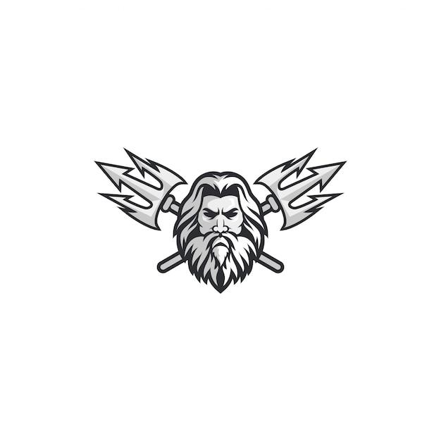 Concept de logo poseidon Vecteur Premium