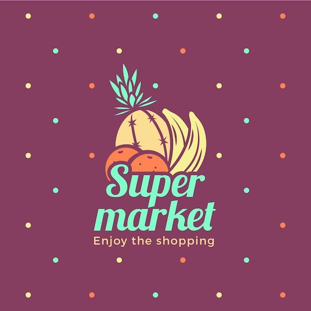 Concept De Logo De Supermarché Vecteur Premium