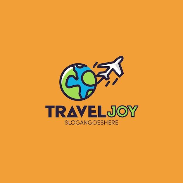 Concept De Logo De Voyage Détaillé Vecteur gratuit