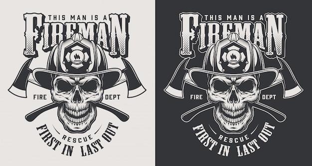 Concept De Logotype De Lutte Contre L'incendie Vintage Vecteur gratuit